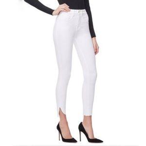 GOOD AMERICAN Good Legs Cascade Hem Skinny Jeans!